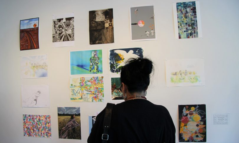 Artworks on wall